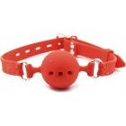 Красный дышащий кляп из силикона М Ø 4,5 см