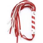 Мягкая красно-белая плеть из кожзама