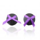 Черные пэстисы с фиолетовым бантиком