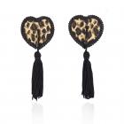 Леопардовые пэстисы в виде сердечек с черными кисточками