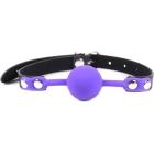 Силиконовый пурпурный кляп-шарик