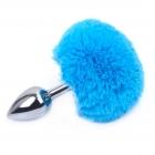 Пробка с голубым хвостиком кролика Silver M, Ø 3,2 см