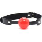 Силиконовый кляп-шар красный, Ø 4,5 см