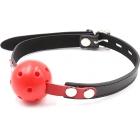 Дышащий красный пластиковый кляп-шар