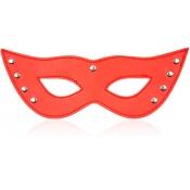 БДСМ маска красная с заклепками