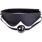 Черная БДСМ - маска с кляпом