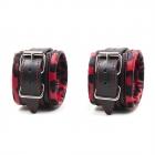 Черно-красные наручники с принтом