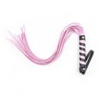 Плеть розового цвета с черными вставками, 45 см