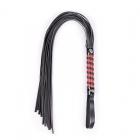 Классическая плеть с черно-красной рукоятью, 70 см