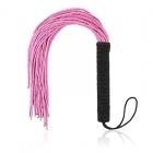 Мягкая розовая плеть с черной ручкой, 50 см