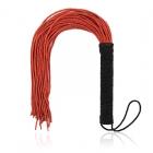 Мягкая красная плеть с черной ручкой, 50 см