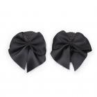 Черные блестящие круглые пэстисы с черными бантиками
