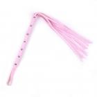 Розовая мягкая плеть с клепками, 60 см