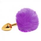 Пробка с фиолетовым хвостиком кролика Gold S, Ø 2,5 см