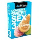 Оральные презервативы DOMINO SWEETSEX с ароматом мороженного, 3 шт