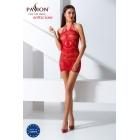 Прозрачное платье красного цвета BS063