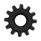 Эрекционное черное кольцо Power Plus Coock Ring Ø 2-4 см