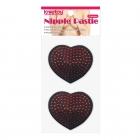 Обворожительные пэстисы в форме сердец со стразами Reusable Red Diamond Heart Nipple Pasties