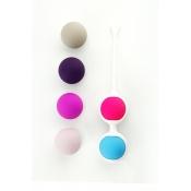 Вагинальные шарики со сменными частями (6 шт) различного веса, Ø 3,1 см