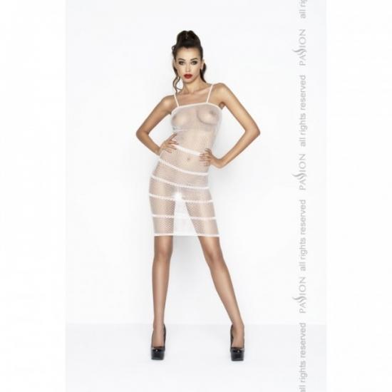 Прозрачное сексуальное платье белого цвета BS033