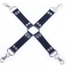 Бондажный БДСМ крест черный