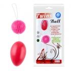Анально-вагинальные шарики со смещенным центром, розовые