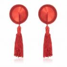 Красные пэстисы с кисточками